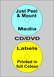 CD-dvd media labels